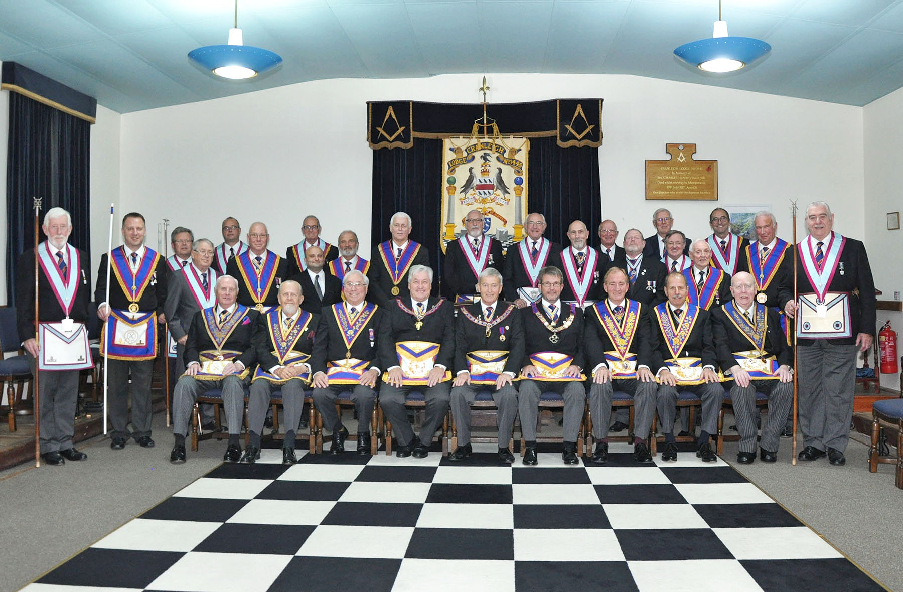 Executive visit to Cranleigh Centenary Lodge of Mark Master Masons