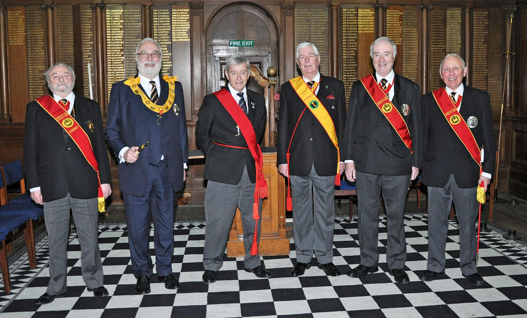 The Assistant Provincial Grand Master joins the Order of the Scarlet Cord