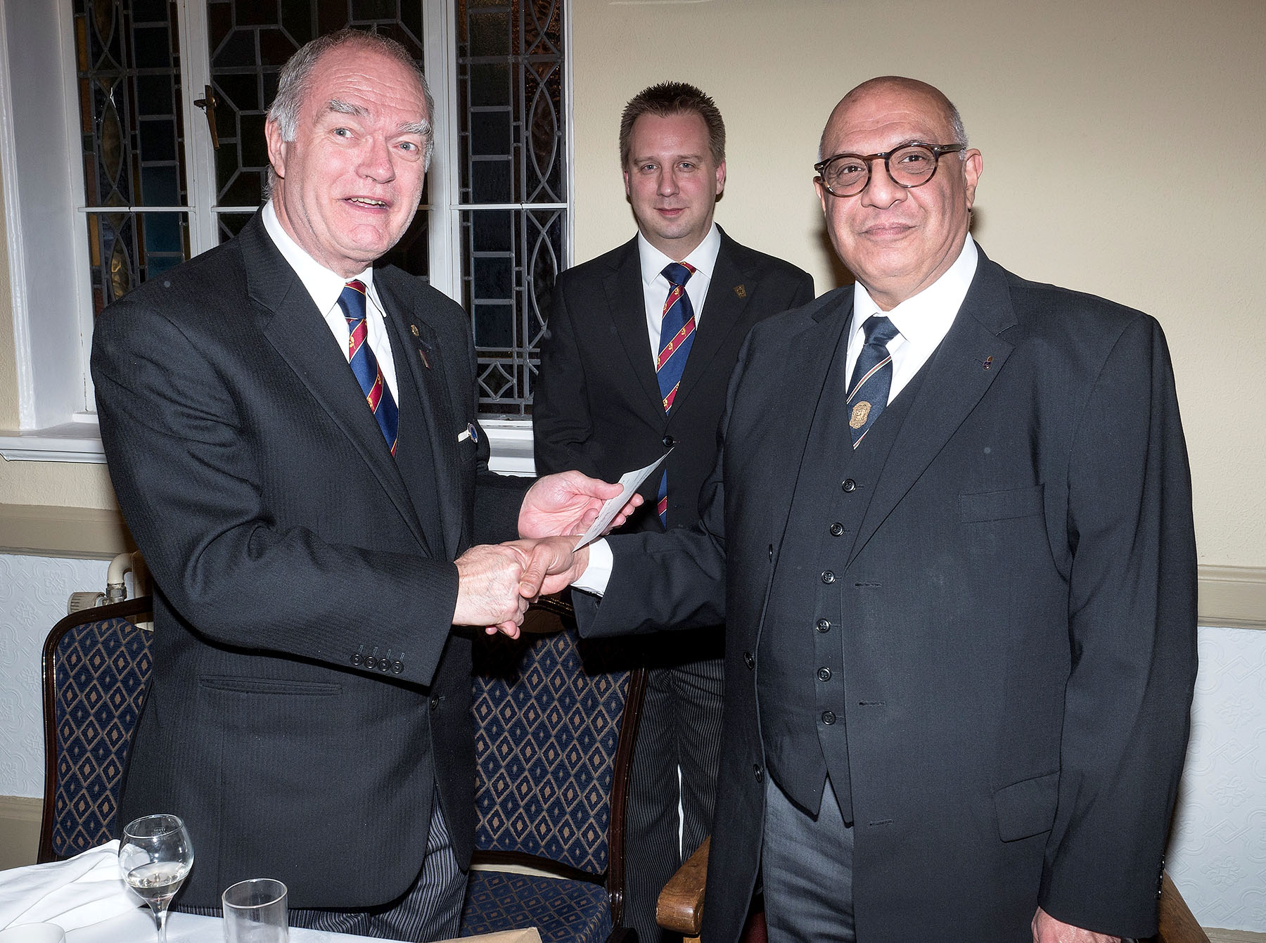 The Deputy Provincial Grand Master visits Table Fellowship Lodge