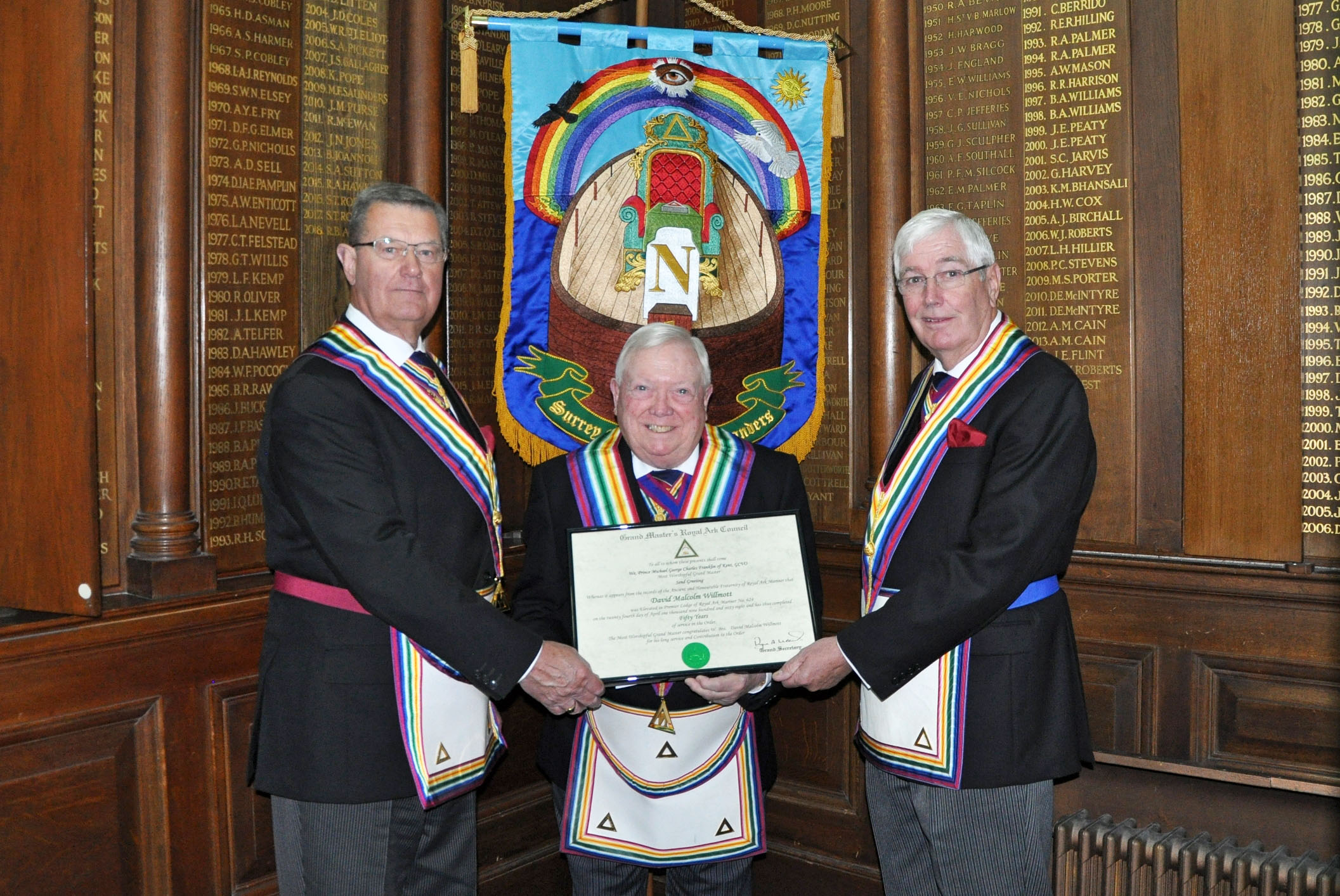Surrey Mark Installed Masters and Enthroned Commanders Lodges
