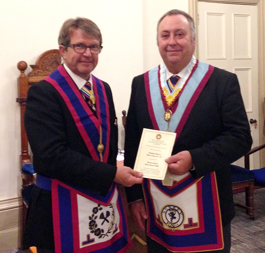 The Provincial Grand Master visits Dorking Lodge